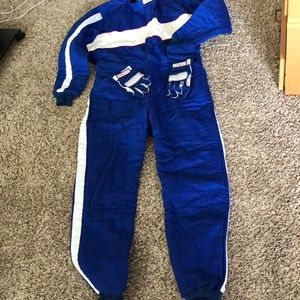 Racing Gear blue XL with gloves